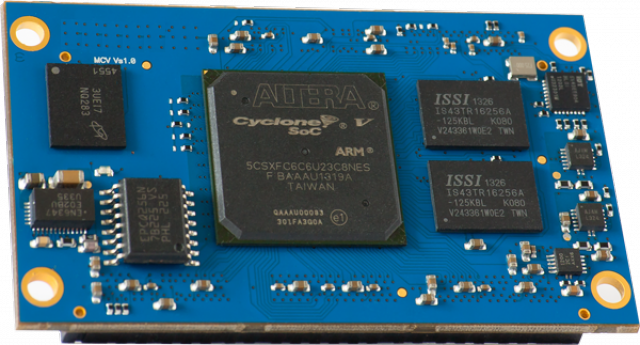 MCV - Intel PSG Cyclone FPGA System on Module connecting the